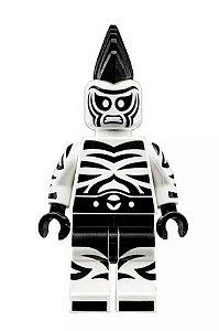 Boneco Compatível Lego Homem Zebra - Dc Comics