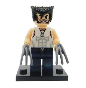 Mini Figura Compatível Lego Wolverine X-MEN Marvel