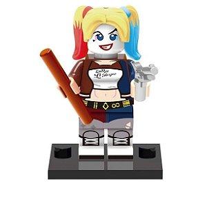 Boneco Arlequina Lego Compatível (Harley Quinn) - Dc Comics
