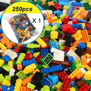 Peças Sortidas Blocos de Montar Compatível Lego (250 Peças)