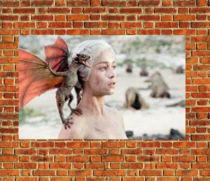 Quadro Decorativo Mdf - Game of Thrones Daenerys Targaryen (30x20)