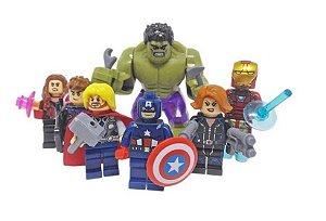Kit Vingadores LEGO compatíveis c/ 7 - Marvel