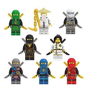 Kit Ninjago Lego Compatível c/ 8