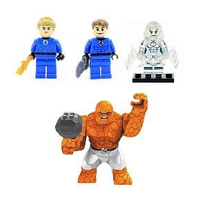 Kit Quarteto Fantástico LEGO compatível - Marvel