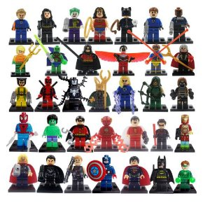 Super Kit Marvel e DC Lego Compatível c/ 34