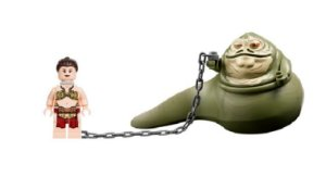 Set Jabba The Hutt e Princesa Leia Compatível Lego Star Wars