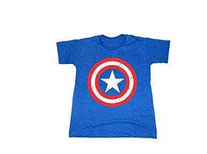 Camiseta Super Heróis Capitão América - Infantil