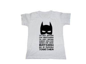 Camiseta Not Batman - Baby Look
