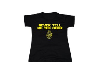 Camiseta Star Wars Never Tell - Baby Look