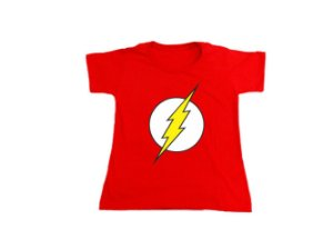 Camiseta Super Heróis The Flash - Baby Look