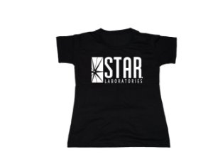 Camiseta Flash Star Labs - Baby Look