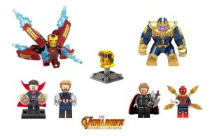 Kit Vingadores Guerra Infinita Lego Compatível c/7