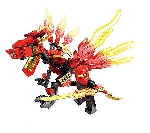 Kai Dragão de Fogo Ninjago Lego Compatível (115 peças)