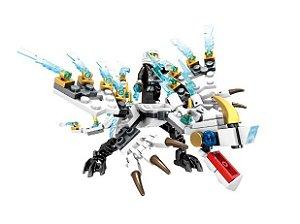 Zane Dragão de Gelo Ninjago Lego Compatível (142 peças)