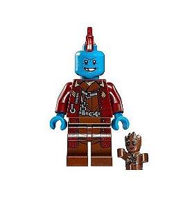 Boneco Yondu e Baby Groot Lego Compatível - Marvel (Edição Deluxe)