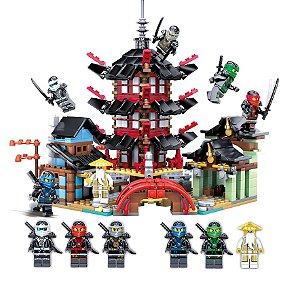 Set compatível Lego Ninjago Templo Airjitzu - 810 Peças