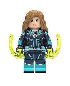 Boneco Capitã Marvel Lego Compatível - Marvel (Edição Especial)