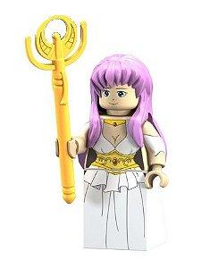 Boneco Compatível Lego Athena - Cavaleiros do Zodíaco (Edição Especial)