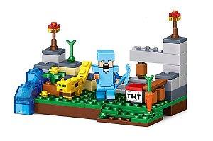 Set Minecraft LEGO Compatível (95 peças)