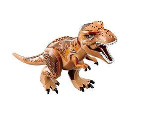 Brinquedo Dinossauro T-Rex Lego Compatível (28 CM de Comprimento) - Jurassic World