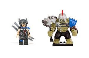 Set Thor Ragnarok LEGO compatível (com Hulk Gladiador) - Marvel