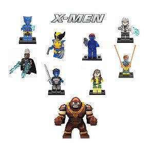 Kit X-Men LEGO Compatível c/9 - Marvel
