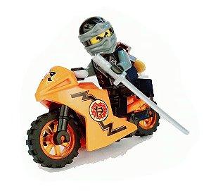 Boneco Moto Cole Ninjago Lego Compatível