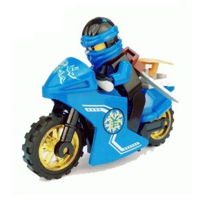 Boneco Moto Jay Ninjago Lego Compatível