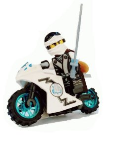 Boneco Moto Zane Ninjago Lego Compatível