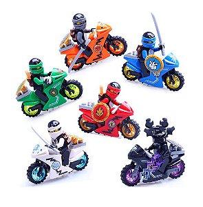 Kit Ninjago Moto Lego Compatível c/ 6