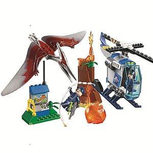 Set Jurassic World Fuga Pteranodonte - Brinquedo Dinossauro Lego Compatível (84 Peças)