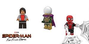 Set Filme Homem-Aranha Longe de Casa Lego Compatível (C/ 3)