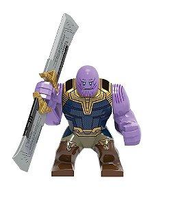 Boneco Thanos Espada Vingadores Ultimato Lego Compatível (Edição Deluxe / Big Figure) - Marvel