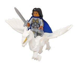 Set Boneco Valquíria e Pegasus Lego Compatível - Marvel