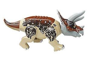 Brinquedo Dinossauro Triceratops LEGO Compatível (24 CM de Comprimento) - Jurassic World