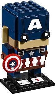 Brickheadz Capitão América - Cute Doll 79 pçs (Lego Compatível)