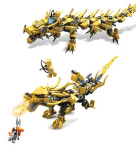 Set compatível Lego Ninjago Dragão Dourado 2 em 1 - 369 Peças