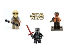 Kit Star Wars Lego Compatível c/3 - Rey, Kylo Ren e Finn