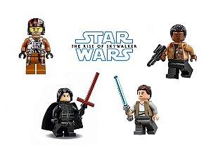 Kit Star Wars IX - A Ascensão Skywalker Lego Compatível c/4