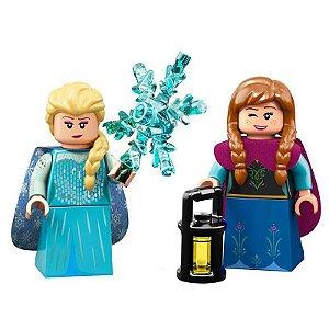 Set Frozen 2 Lego compatível - Elsa e Anna (Edição Especial)