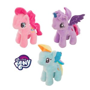 Kit 3 Pelúcias My Little Pony (23 Cm)