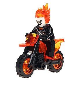 Boneco Motoqueiro Fantasma Lego Compatível (Edição Deluxe)