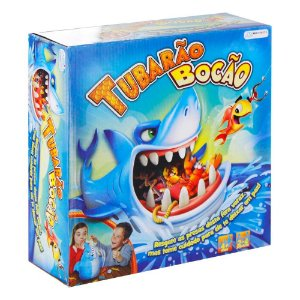 Jogo Tubarão Bocão com 12 Peixes + Vara de Pesca (Indicado para +4 Anos) Multikids