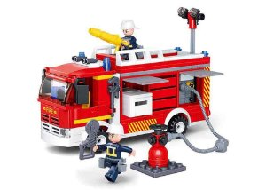 Blocos de Montar Caminhão de Bombeiro com Hidrante compatível Lego - 343 Peças