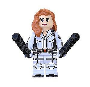 Boneco Viúva Negra Lego Compatível - Marvel (Edição Deluxe Roupa Branca Filme)