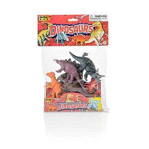 Dinossauros 15cm com 6 Peças Sortidas