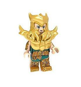 Boneco Compatível Lego Milo de Escorpião - Cavaleiros do Zodíaco (Edição Especial)