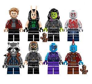 Kit Guardiões da Galáxia LEGO compatível c/8