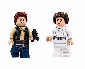 Kit Star Wars Han Solo e Leia Lego Compatível