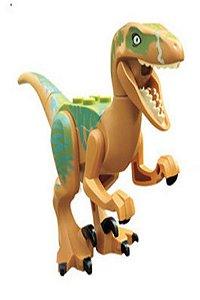 Brinquedo Dinossauro Velociraptor Lego Compatível (12 CM de Comprimento) - Jurassic World